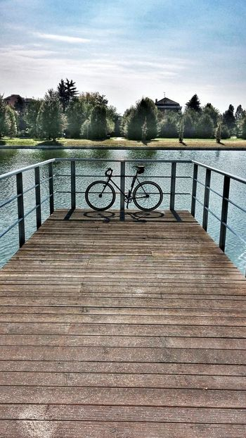 Bike LGG2 Lake Pontile Italy Sun Paceful Nature Scattofisso Fixed