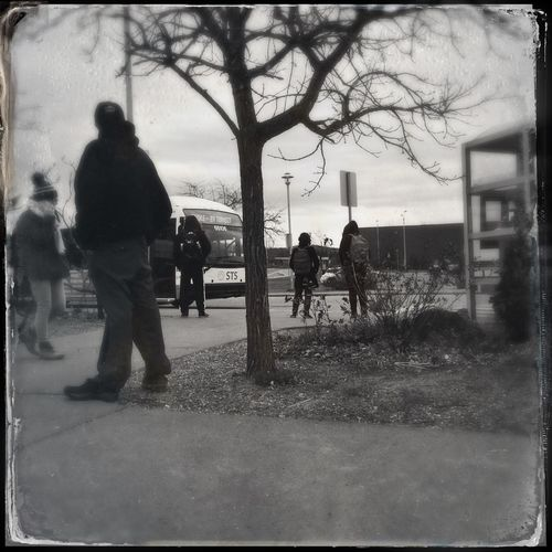 Wating for the bus IPhoneography Hipstamatic Mobileart