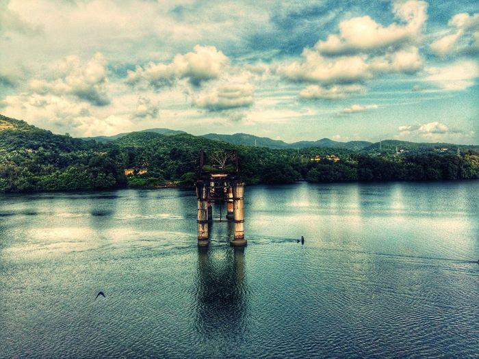 the broken bridge. Goodvibes✌️ Peaceful Pecae Sea And Sky Goa