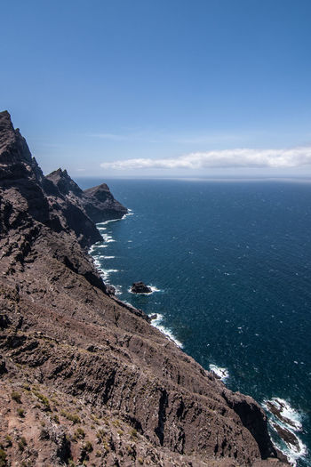 Fuerteventura Beach Beauty In Nature Cliff Cloud - Sky Day Horizon Over Water Kanarische Inseln Nature No People Outdoors Scenics Sea Sky Tranquil Scene Tranquility Water
