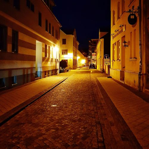 Paint The Town Yellow Illuminated Night Architecture Built Structure Building Exterior The Way Forward Street Light No People Outdoors City Sky