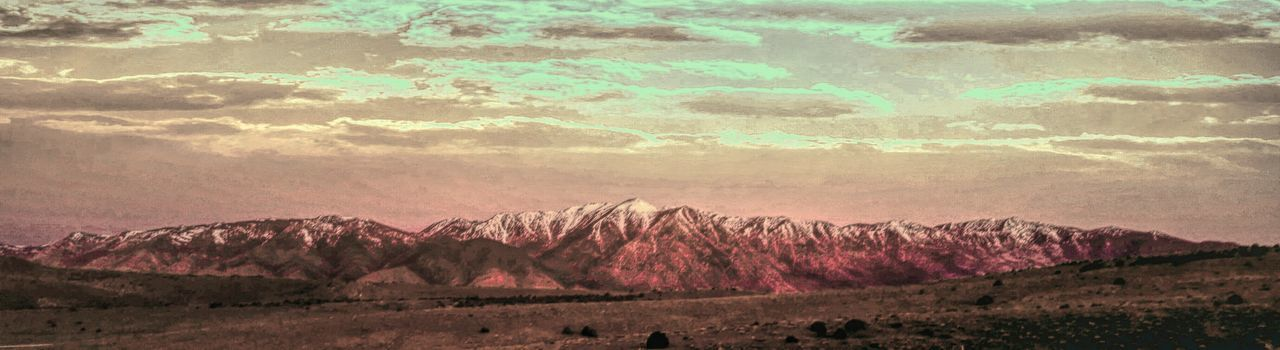 mountain, landscape, nature, scenics, beauty in nature, outdoors, physical geography, mountain range, no people, desert, sky, day
