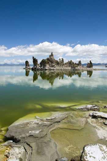 America Beauty In Nature California Day Growth Lake Landscape Mono Lake No People Outdoors Reflection Scenics Sky Tuff USA Water Western