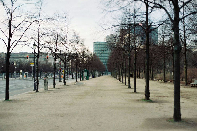 Analogue Photography Architecture Berlin Building City City Life Empty Germany In A Row Morning No People Outdoors Travel Destinations Tree