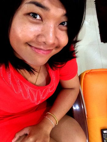Selfie Nuple Its Me Smile Nice Dress Orange Day