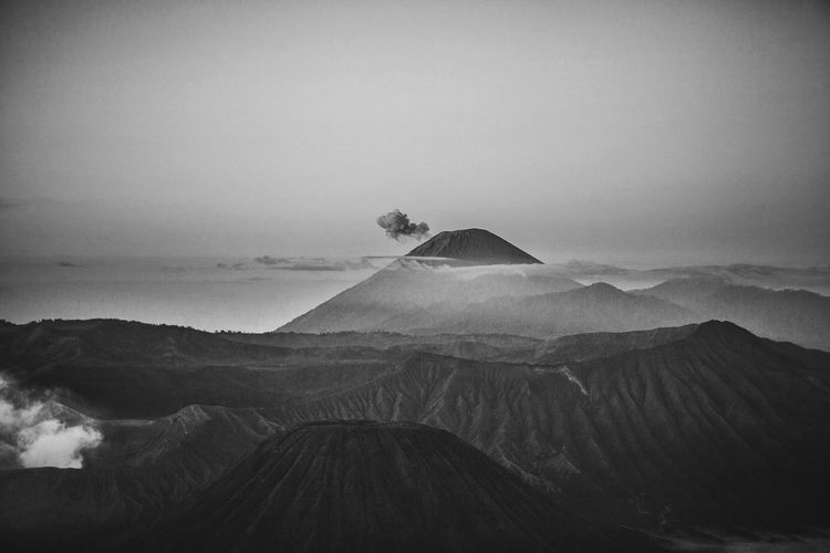Scenic View Of Mt Bromo At Dusk