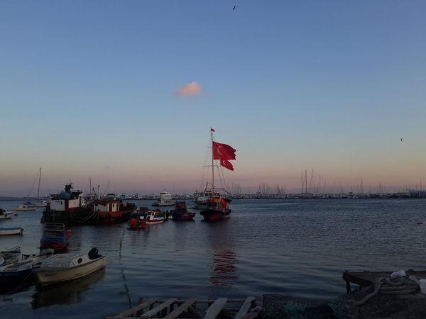 Istanbul Pendik Pendik Sahili Turkey Seaside_collection Sky Outdoors Flag Boats Hola! Hello Merhaba
