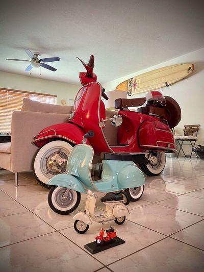 Toy car on floor