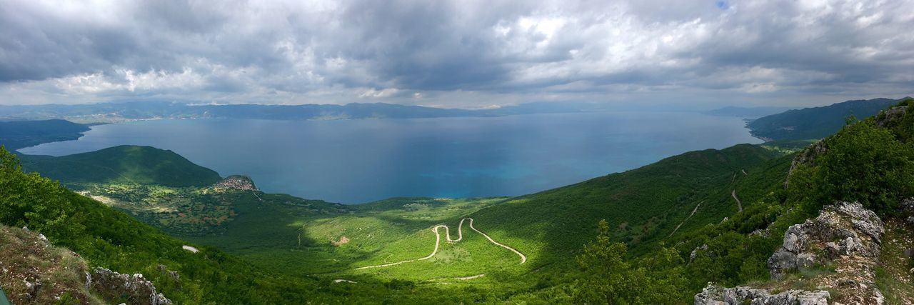 EyeEmNewHere Nature EyeEm Nature Lover Cloud Cloud Formations Viewpoint Landscape Sunny Natural Park National Park Galicica National Park Galicica Ohrid Lake Macedonia FYROM Tree Mountain Water Terraced Field Lake Beauty Forest Fog Valley Plantation Shining Mountain Peak Dramatic Sky