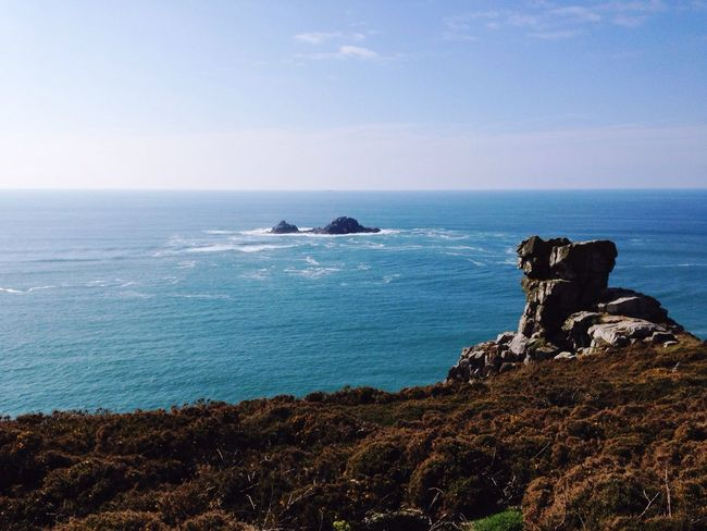 Cornish Coast Cornish Landscape Cornwall Uk Capecornwall Bluesea Blue Sky Sea And Sky Cliffside Travel Nature Photography Landscape LandsEnd