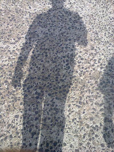 Silhouette Concrete Floor Daylight Shadow