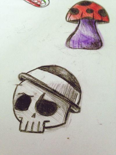 Grim Doodle Drawing Nonnynoonoo