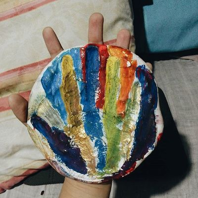 It's been exactly 12 years since 5 year old Kate excitedly pressed her little hand on the plaster.