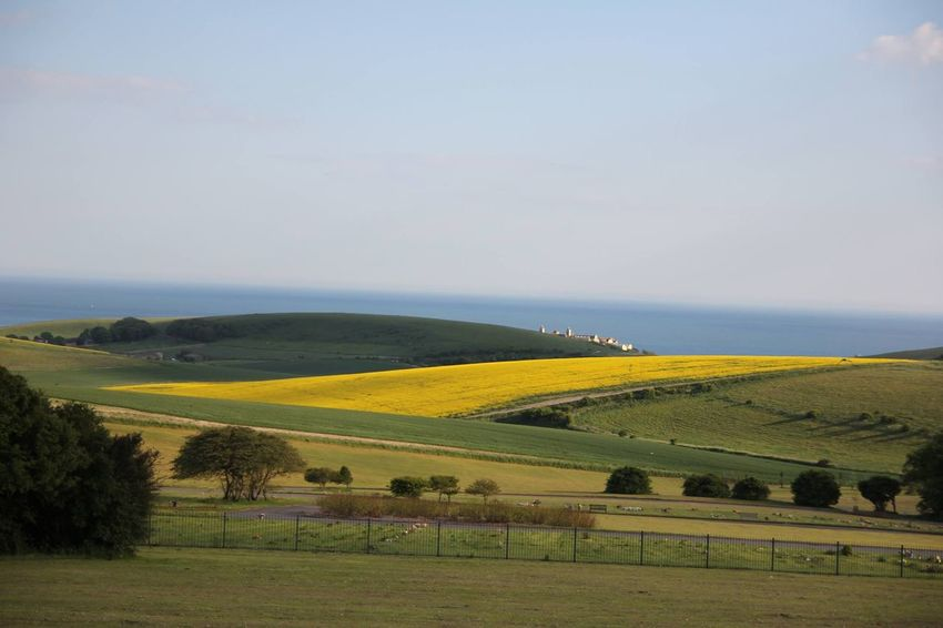 Brighton Blue Sky Fields Hillside No Filter, No Edit, Just Photography