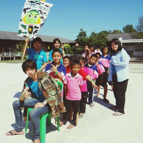 Frog Army, Hey !! ค่ายวันเด็ก 55 โรงเรียนบ้านต้นลำแพน ชมรมอาสาพัฒนา มจพ. The Portraitist - 2014 EyeEm Awards