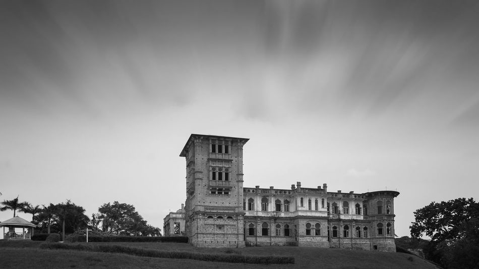 Abandoned Kellie's Castle in Batu Gajah, Malaysia, Black and white version Architecture Asian  British Kellie's Castle Malaysia Perak Abandoned Adventure Amzing Scenery Architecture Batu Gajah Building Exterior Built Structure Day Heritage History History Architecture Ipoh Landmark Malaysia Nature No People Outdoors Sky Travel Destinations Tree