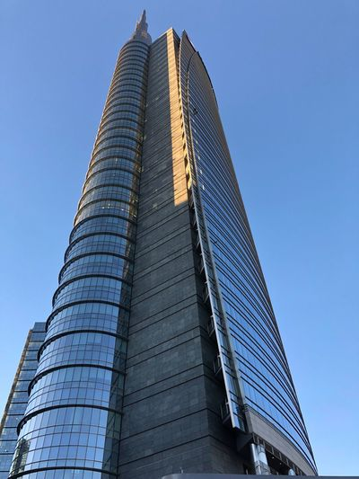 Architecture Built Structure Modern Building Exterior Low Angle View Skyscraper Tower Day City Life Sky Outdoors City Travel Destinations Clear Sky No People