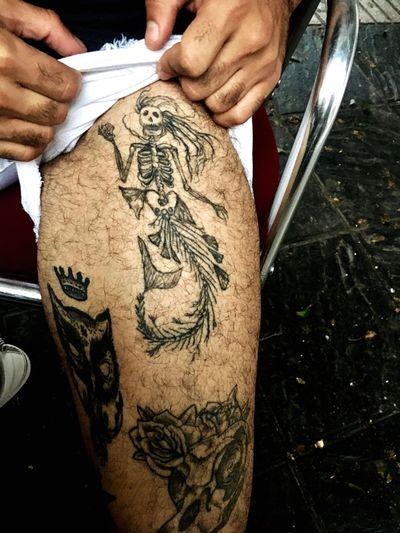 Sirena. Mermaid Tatuaje Tattoo Muerte Death
