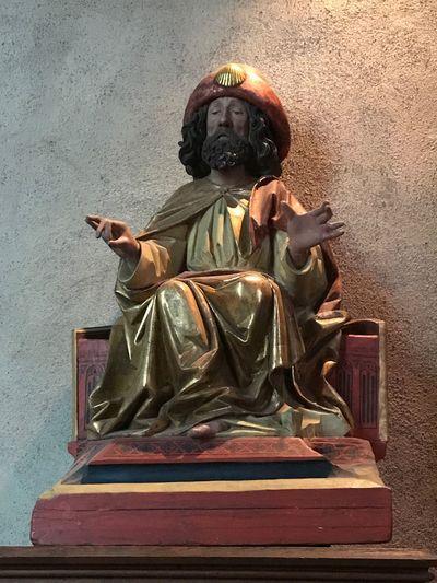 Statue Religion Sculpture Spirituality Saint Antoine Eglise