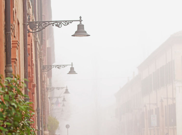 Architecture Building Exterior Built Structure City Day Ferrara Ferrara- Italy Fog Foggy Foggy Day Foggy Morning Lamps And Lights. No People Outdoors Travel Destinations