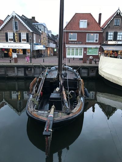Spakenburg Boat EyeEm Selects Building Exterior Water Nautical Vessel Built Structure Moored Architecture Transportation Waterfront Mode Of Transport Day Canal Outdoors No People