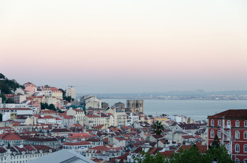 Lisbon - Portugal Architecture Building Exterior Built Structure City Cityscape Clear Sky Day High Angle View Horizon Over Water Mountain Nature No People Outdoors Residential  Residential Building Sea Sky Sunset Town Tree Water