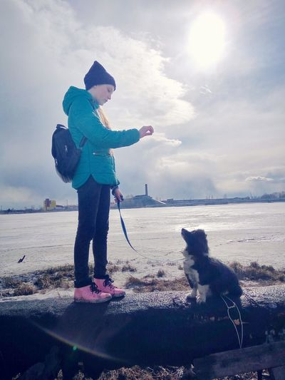Retriever Warm Clothing Pets Full Length Sea Dog Standing Fishing Tackle Pet Leash Winter