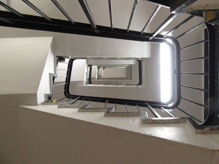 It looks good on the way up... Staircase Railing Going Up Swindon Diminishing Perspective