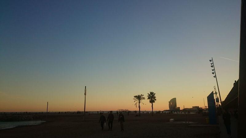 Barcelona Barcelona, Spain Strand ♥ Sonnenuntergang ❤ Nature Sky Beach Energía Vida