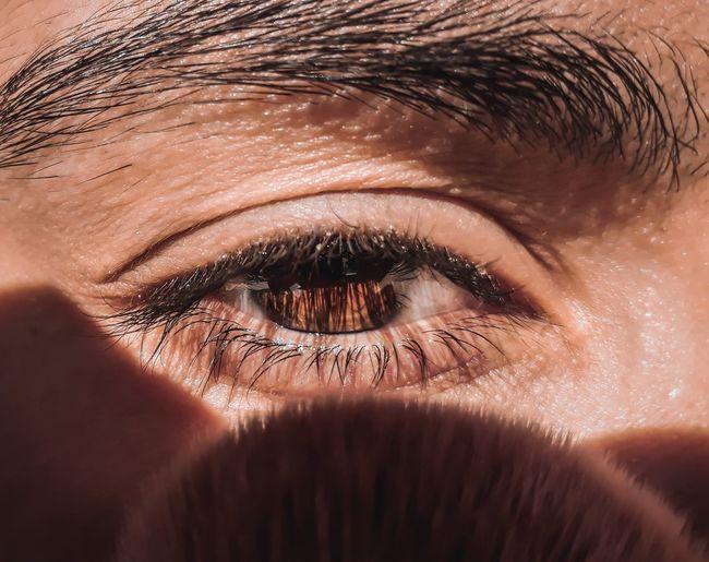 Close-up portrait of man eye