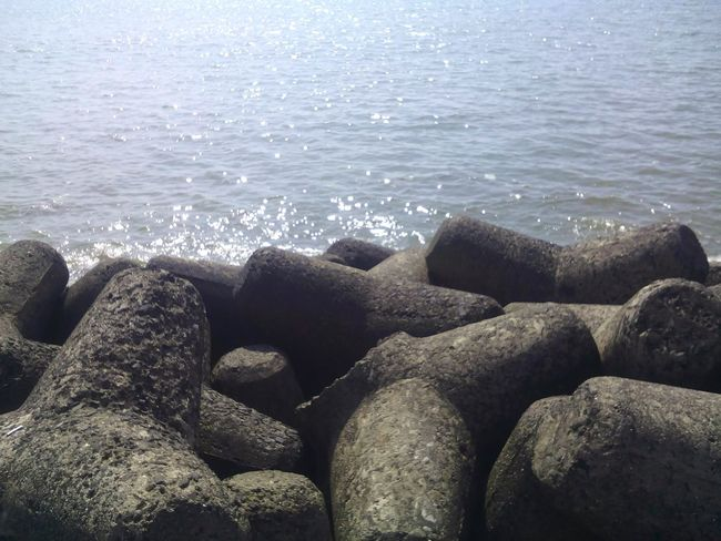 Sea And Sky Rocks And Water Beautiful ♥ Daylight Reflection Warmthandsunshine Peaceful View