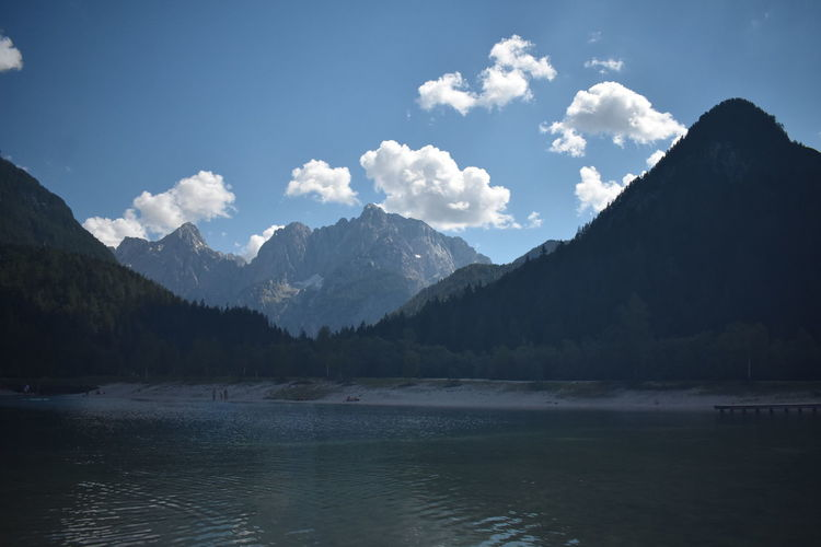 Lakes & Mountains in Lake Jasna, Slovenia Slovenia Triglav National Park Beauty In Nature Cloud - Sky Day Idyllic Lake Lake Jasna Landscape Mountain Mountain Peak Mountain Range Nature No People Non-urban Scene Outdoors Plant Range Scenics - Nature Sky Tranquil Scene Tranquility Water Waterfront