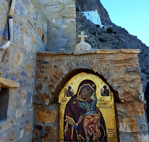 Greece Photos Church Architecture Monestary Church Human Representation No People Sculpture Statue Day