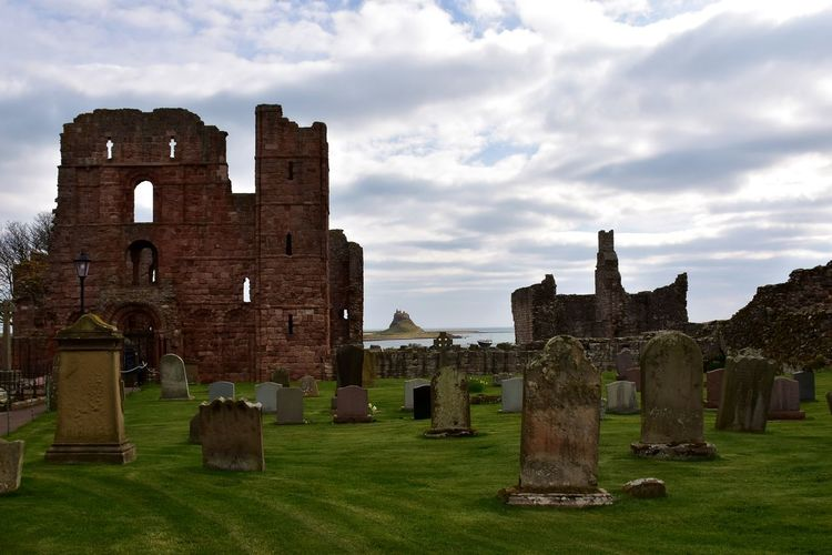 Looking to Lindisfarne Castle from Lindisfarne Priory Architecture Built Structure History The Past Cloud - Sky Sky Old Building Exterior Old Ruin Grass Ancient Travel Destinations Building No People Day Nature Travel Tourism Outdoors Ruined Ancient Civilization Archaeology Historic Historical Building Priory Castle Lindisfarne Lindisfarne Castle Lindisfarne Priory View Scenics Looking Out Ruins Graveyard Grave Cemetery Lawn Grass Holy Island Bay Tranquility Tranquil Scene Calm Peace