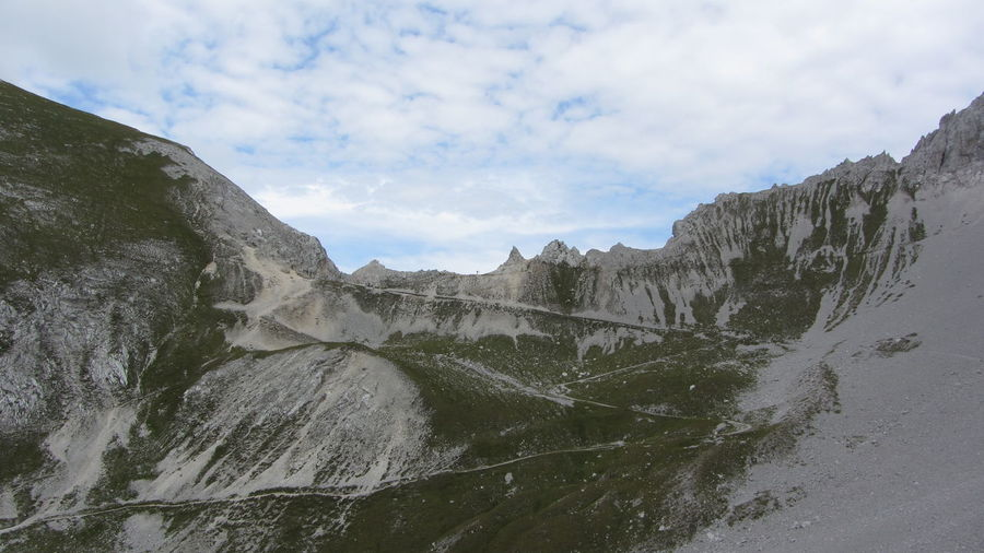 Karwendel Stempljoch Trekking Beauty In Nature Day Mountain Nature Outdoors Scenics Sky Trail