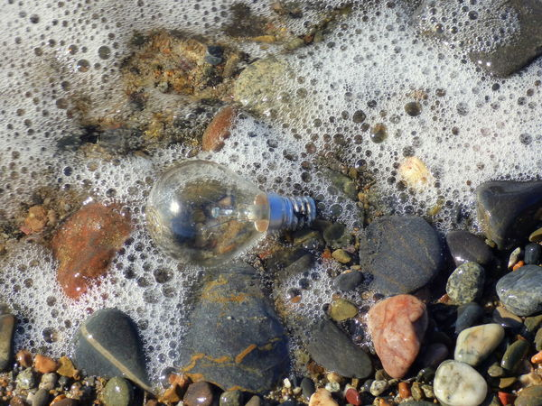 Contaminated Water Day Light Bulb No People Object Outdoors Residue Things That The Sea Brings Back To The Beach