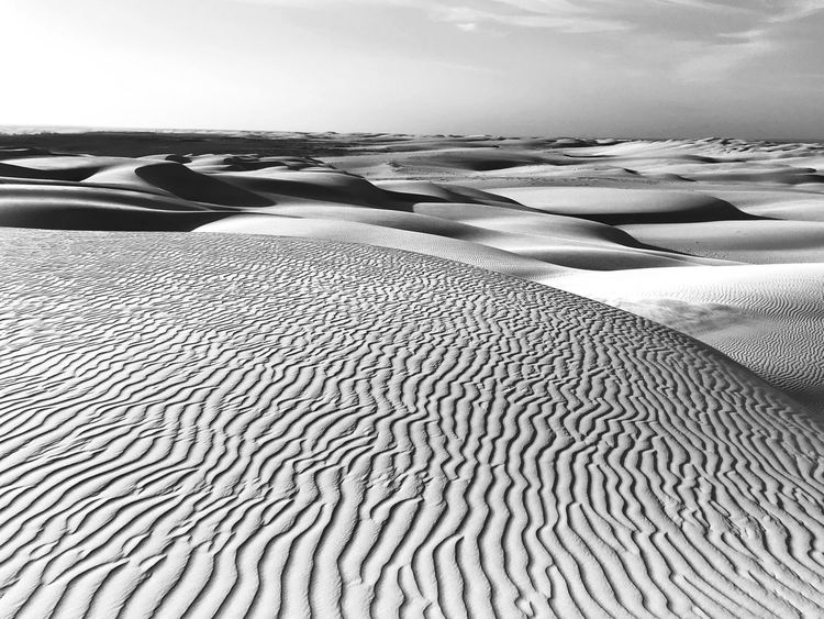 Backgrounds Black And White Blackandwhite Sky Landscape Outdoors Desert No People Beauty In Nature Sea Tranquil Scene Day