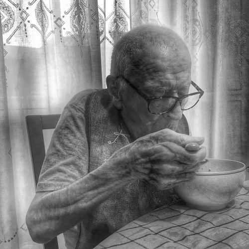 Evening meal Blackandwhite Black And White Blackandwhite Photography Monochrome Monotone Silhouette Life People