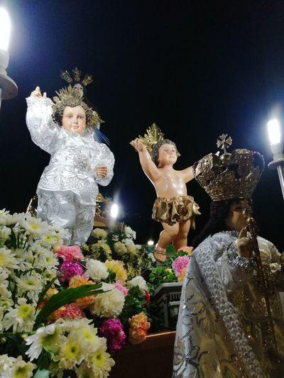 Sto Nino Viva Pit Señor Human Representation Female Likeness Night Illuminated Christmas Decoration Fun Statue