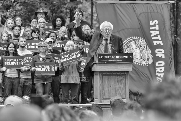 America Bernie Sanders Blackandwhite Campaign Democrat Oregon Politics Presidential Election 2016 Rally