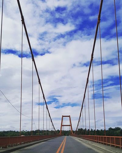 I just love bridges. Another one for the collection - the first suspension bridge in the Philippines Roadtrip Longdrive Roadshot Landscape Bridge Travelphotography Traluluphilippines Wtnadventures ExplorePH Adventureph Travelph