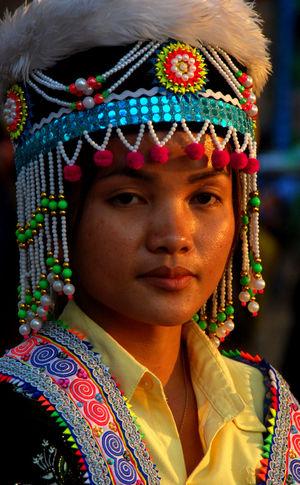Dresses Surfgirl Burma People Day Dress Code Hmong Muslim Woman Portrait