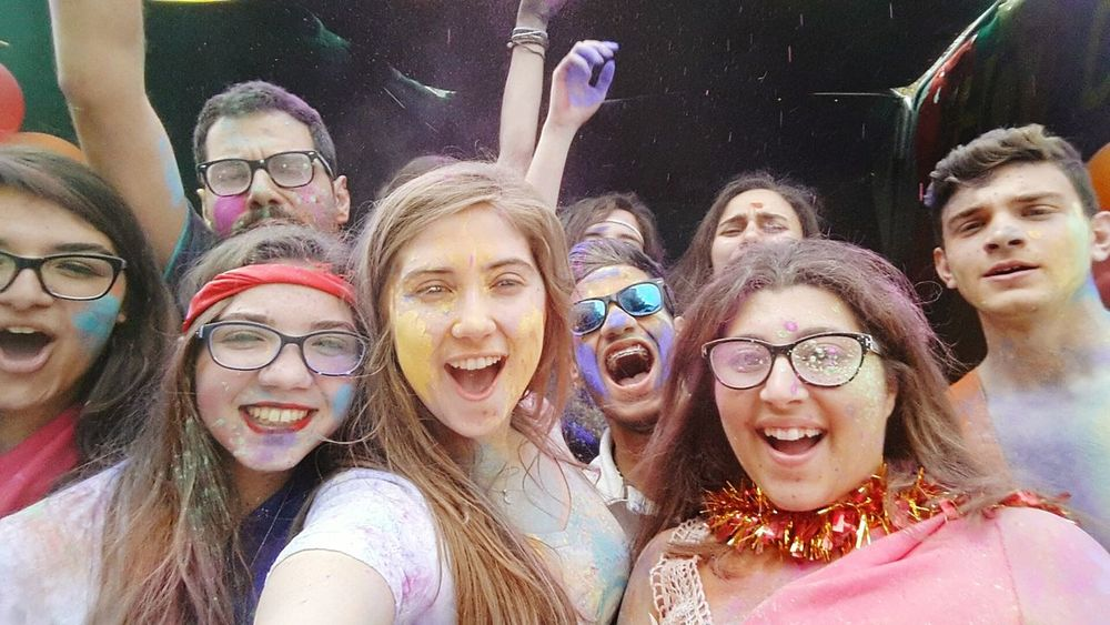 Happy Holi Powder Colours Friends ❤ Love MUN GCLAUMUN Global Village Finito