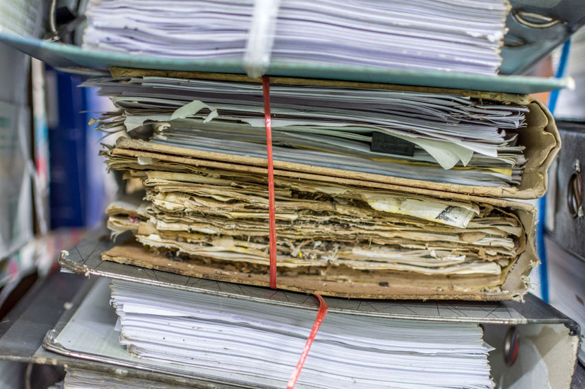 Old documents Close-up Day Heap Indoors  Large Group Of Objects Newspaper No People Old Documents Paper Stack