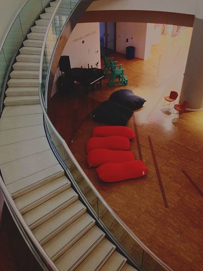 Big beans Beanbags Chairs Seating Looking Down Stairs Curves Staircase Art Gallery EyeEm Gallery