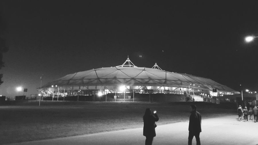 Dome of light (Aerosmith concert venue in La Plata, Argentina) Illuminated Night Architecture Building Exterior Dome Sky Famous Place Modern Clear Sky Built Structure Standing Monochrome Photography Eyeem Photography Outdoors Night Photography Walk This Way Black & White Monochrome Bnw Strike A Pose Concert Lights From Where I Stand AEROSMITH❤ Depth Of Field Black And White Friday HUAWEI Photo Award: After Dark