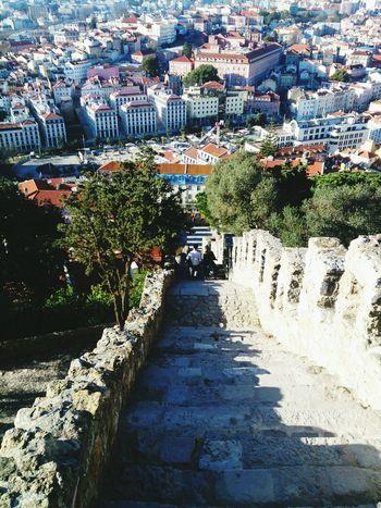 Lisboa Lisboa Castelo De São Jorge Stairs City View