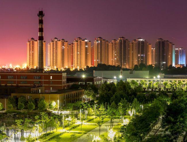 The view from my balcony, at night. Nightphotography Night Lights Nightshot Canon First Eyeem Photo