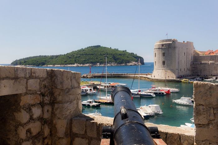 Dubrovnik, Croatia Gun Castle Seascape Harbour