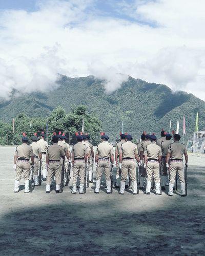 Celebrating independence day in the himalayas. Himalayas ABird'sEyeView Sikkim Independence Mangan